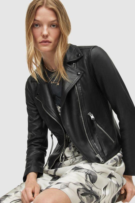 čierna AllSaints - Kožená bunda Dalby Biker Dámsky