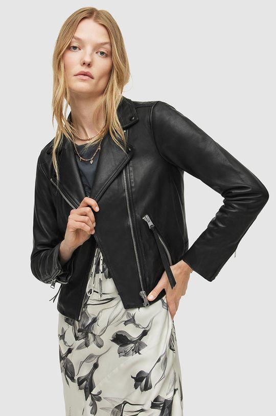 AllSaints - Kožená bunda Dalby Biker  100% Přírodní kůže