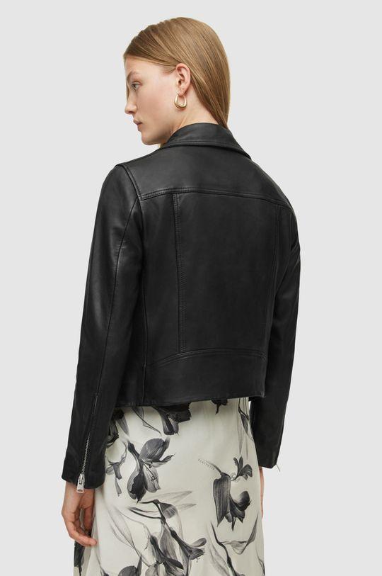 černá AllSaints - Kožená bunda Dalby Biker