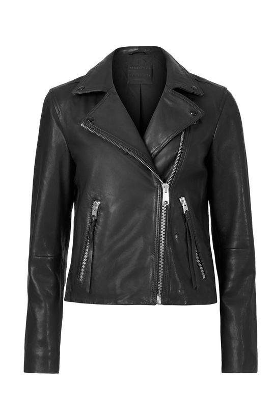 AllSaints - Kožená bunda Dalby Biker Dámský