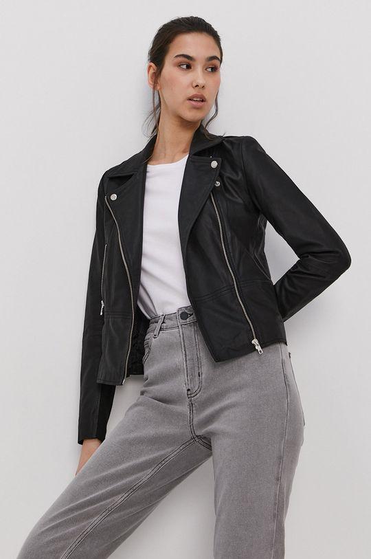 čierna Y.A.S - Kožená bunda Dámsky