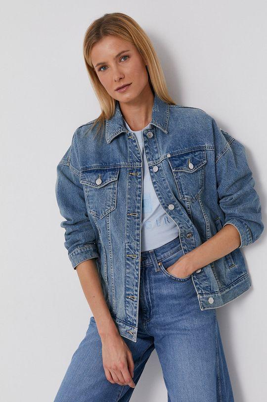 niebieski Armani Exchange - Kurtka jeansowa Damski