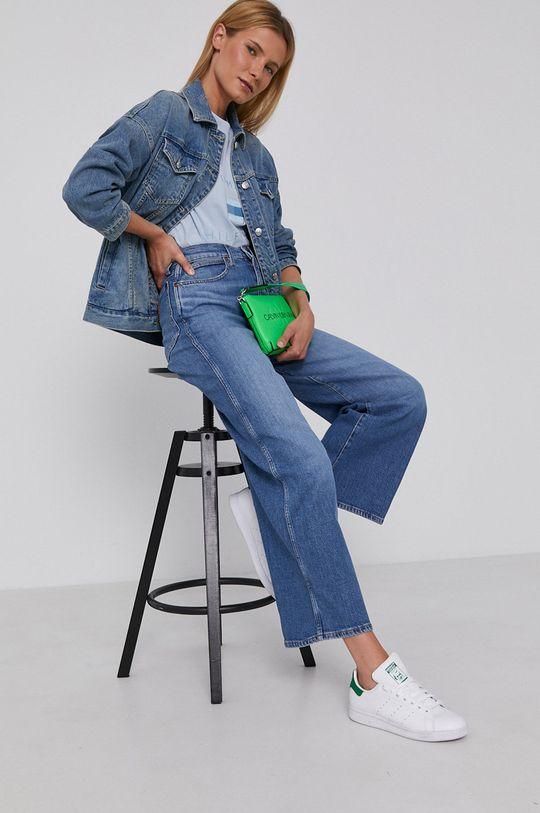 Armani Exchange - Kurtka jeansowa niebieski