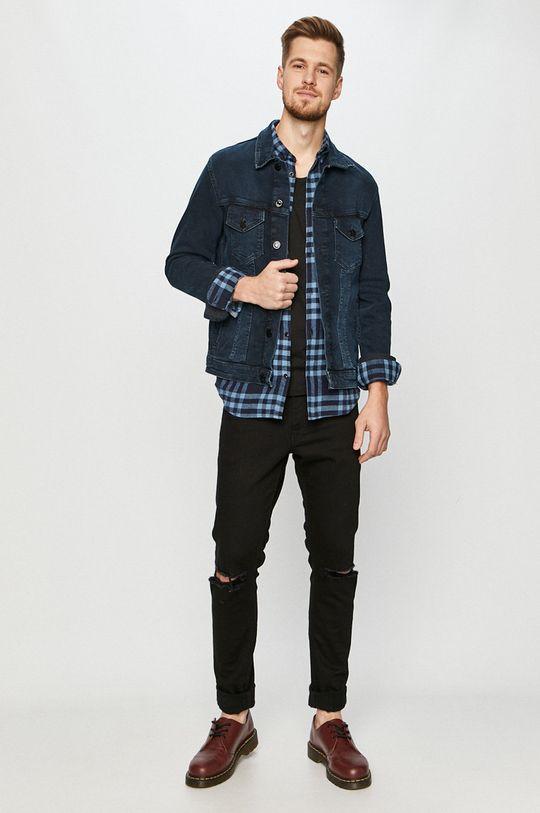 Jack & Jones - Kurtka jeansowa granatowy