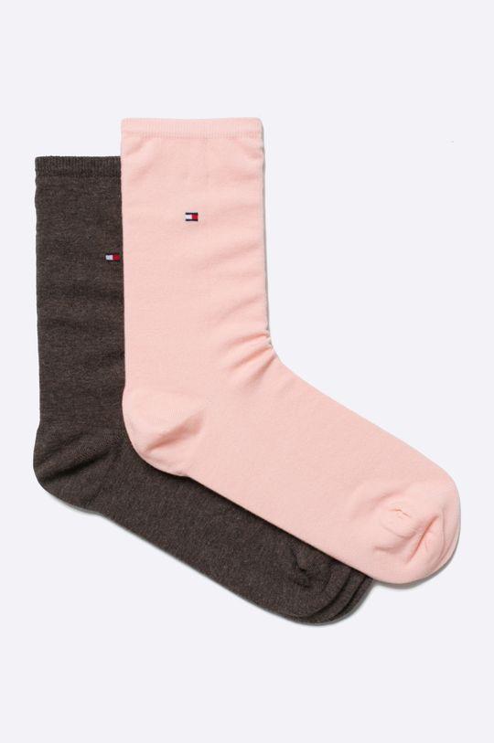 pastelová ružová Tommy Hilfiger - Ponožky (2-pak) Dámsky