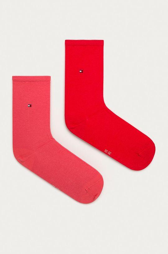 czerwony róż Tommy Hilfiger - Skarpetki (2-pack) Damski