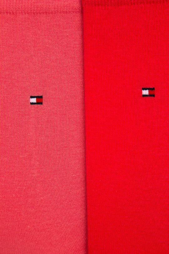 Tommy Hilfiger - Skarpetki (2-pack) czerwony róż
