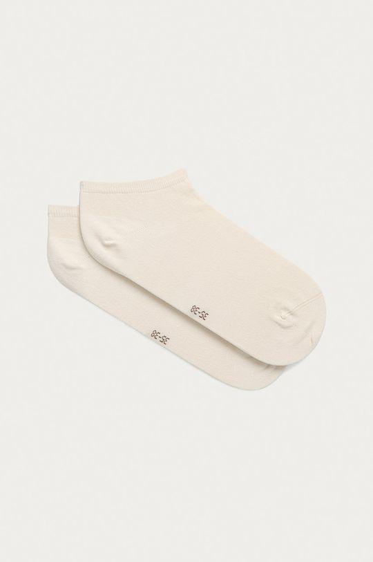 smetanová Tommy Hilfiger - Kotníkové ponožky (2-pack) Dámský