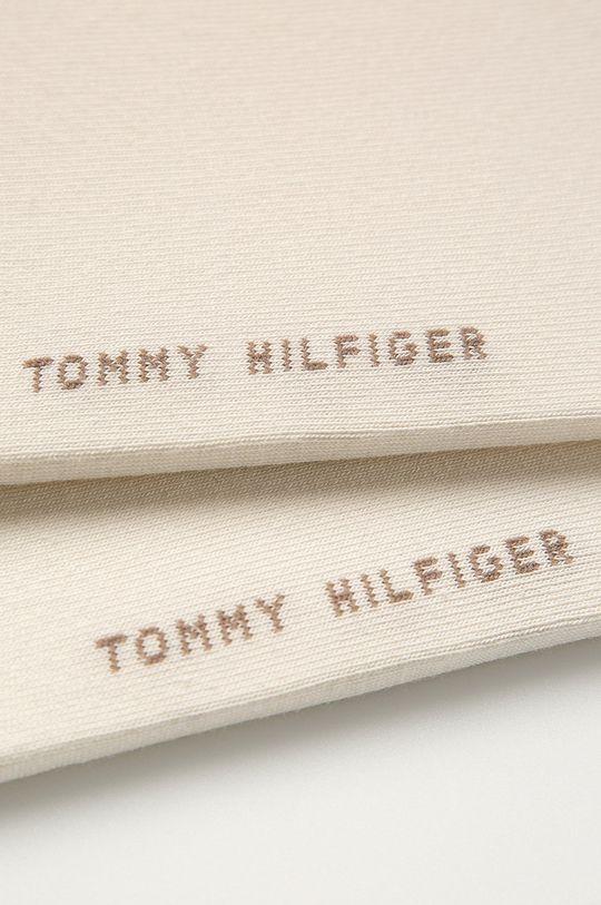 Tommy Hilfiger - Kotníkové ponožky (2-pack) smetanová