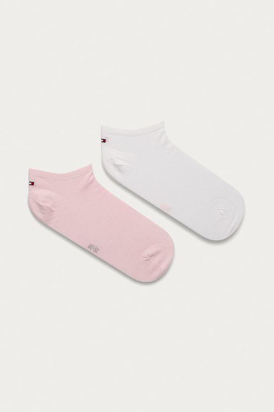 staroružová Tommy Hilfiger - Členkové ponožky (2-pak) Dámsky