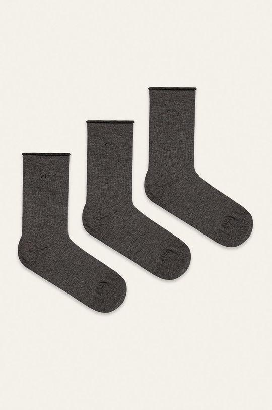 šedá Calvin Klein - Ponožky (3-pack) Dámský