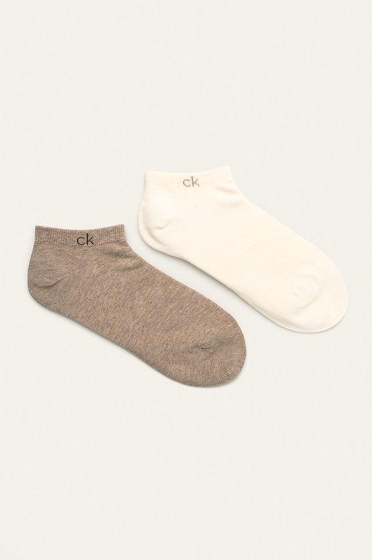 bílá Calvin Klein - Kotníkové ponožky (2-pack) Dámský