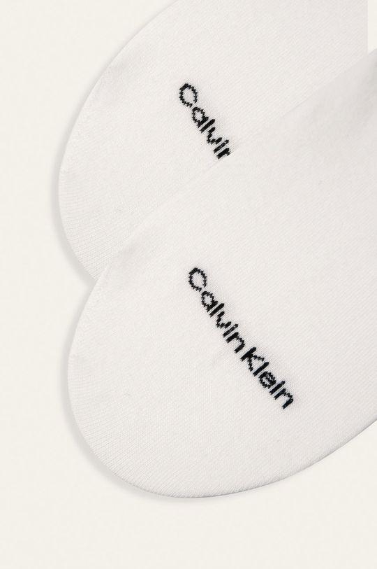 Calvin Klein - Kotníkové ponožky bílá