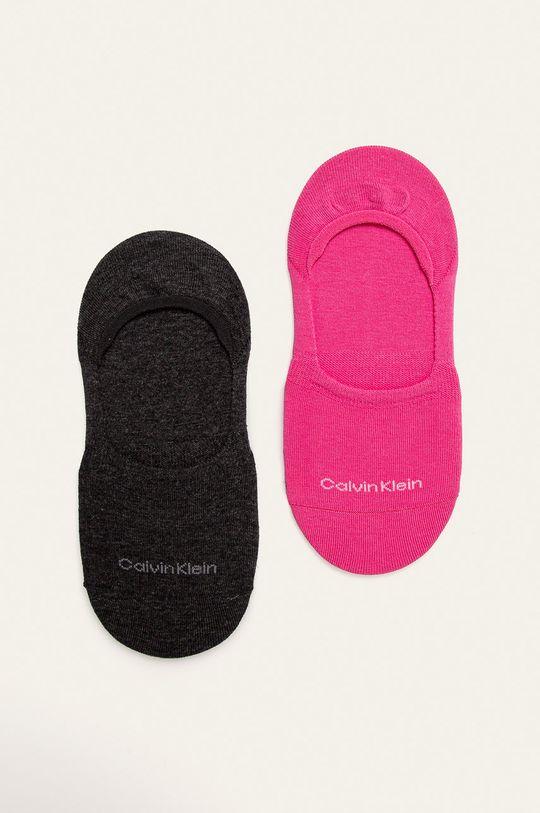 růžová Calvin Klein - Kotníkové ponožky (2-pack) Dámský