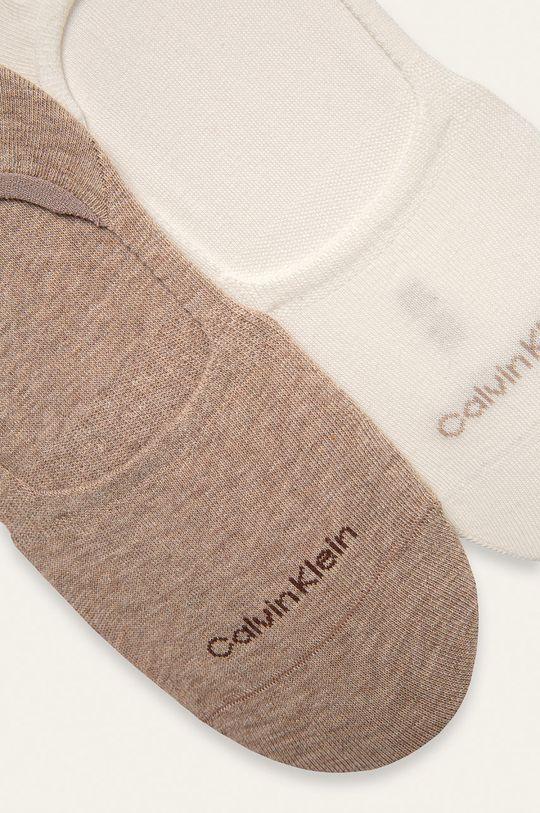 Calvin Klein - Kotníkové ponožky (2-pack) hnědá
