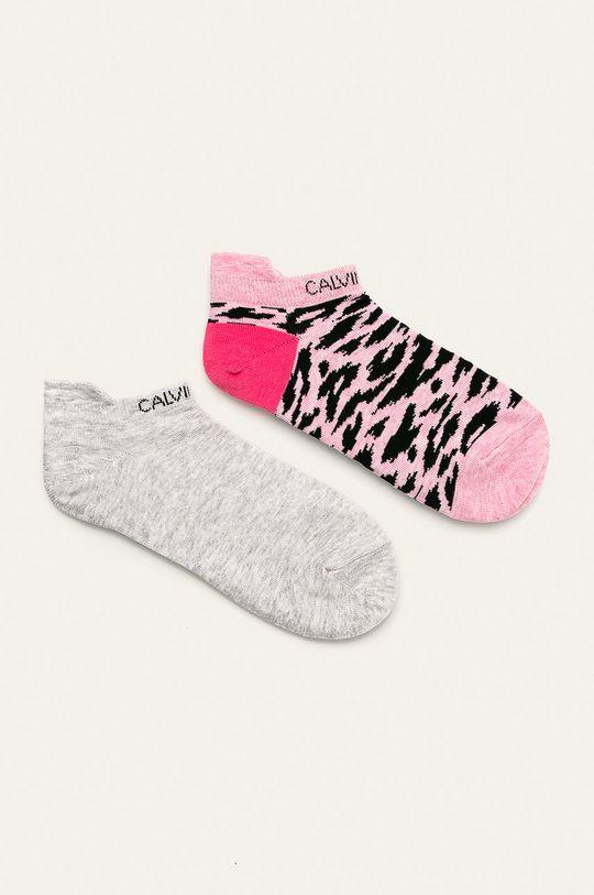růžová Calvin Klein - Ponožky (2-pack) Dámský