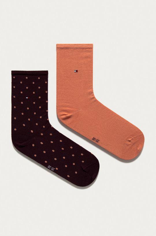 gaštanová Tommy Hilfiger - Ponožky (2-pak) Dámsky