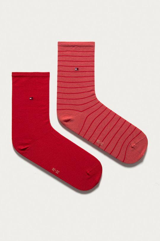 ružovo-červená Tommy Hilfiger - Ponožky (2-pak) Dámsky