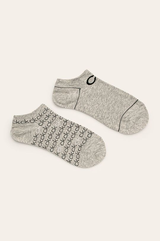 světle šedá Calvin Klein - Kotníkové ponožky (2-pack) Dámský