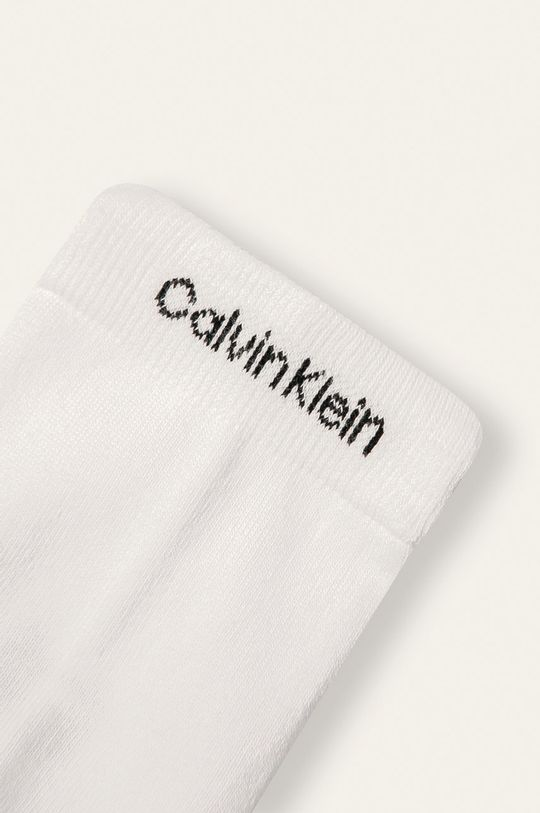 Calvin Klein - Kotníkové ponožky (2-pack) bílá
