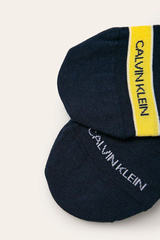 Calvin Klein - Kotníkové ponožky (2-pack) námořnická modř