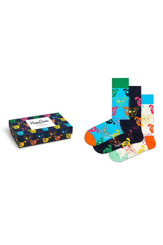 multicolor Happy Socks - Skarpetki Mixed Dog Gift Set (3-pack) Damski