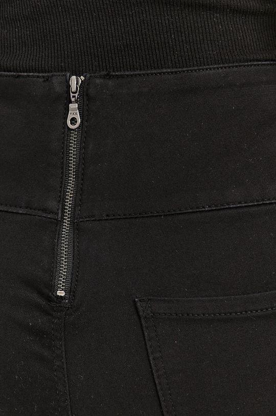 černá Pieces - Kalhoty
