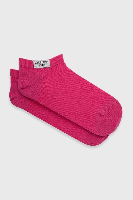 roz rosu Calvin Klein Jeans - Sosete (2-pack) De femei