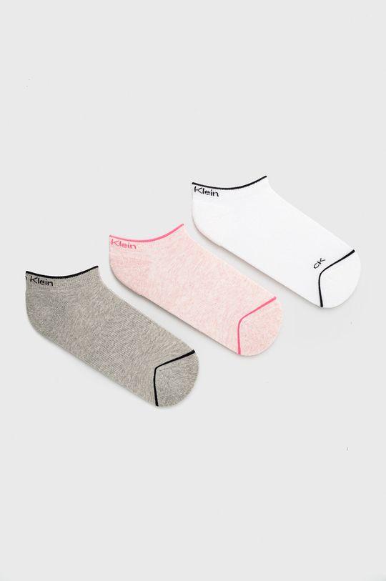 roz Calvin Klein - Sosete (3-pack) De femei