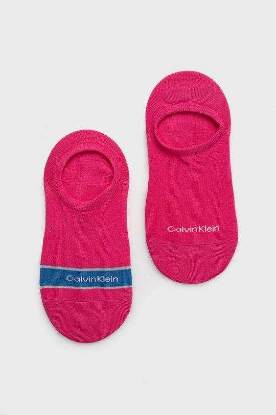 ružovo-červená Calvin Klein - Ponožky (2-pak) Dámsky
