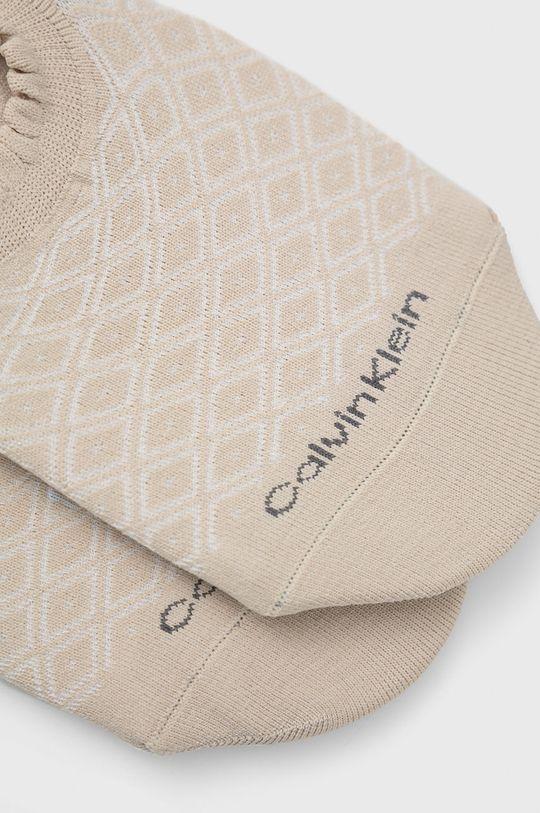 Calvin Klein - Sosete (2-pack) culoarea tenului