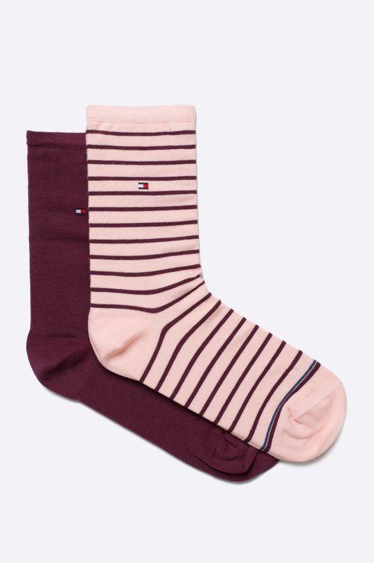 pastelová ružová Tommy Hilfiger - Ponožky (2 pak) Dámsky