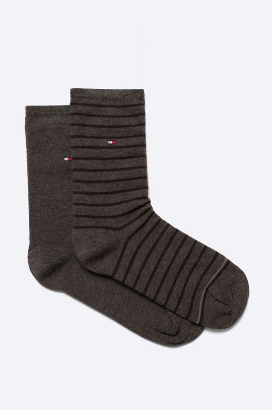 hnedá Tommy Hilfiger - Ponožky (2 pak) Dámsky