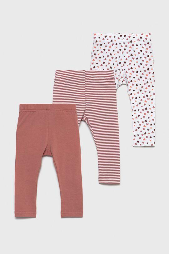 roz rosu Name it - Leggins copii (3-pack) De fete