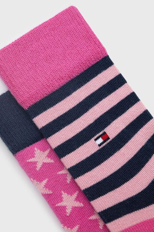 Tommy Hilfiger - Sosete copii (2-pack) roz