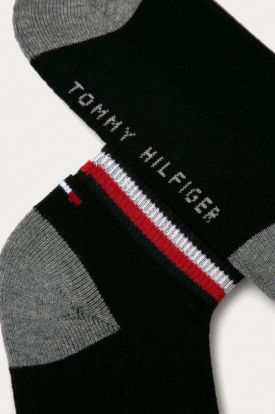 Tommy Hilfiger - Dětské kotníkové ponožky (2-pack) černá