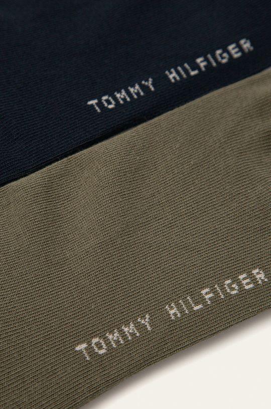 Tommy Hilfiger - Ponožky (2-pak) olivová