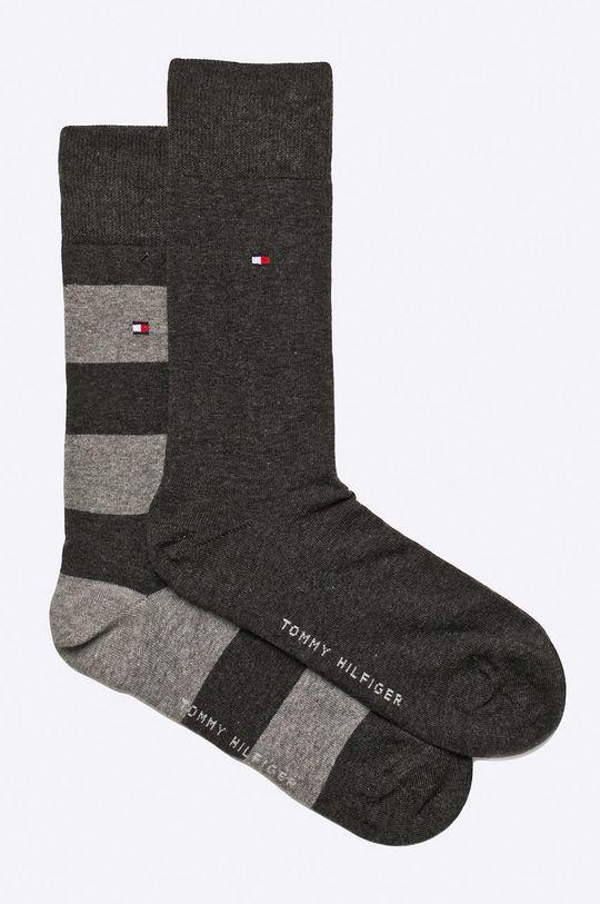 grafitová Tommy Hilfiger - Ponožky Rugby (2-pack) Pánský