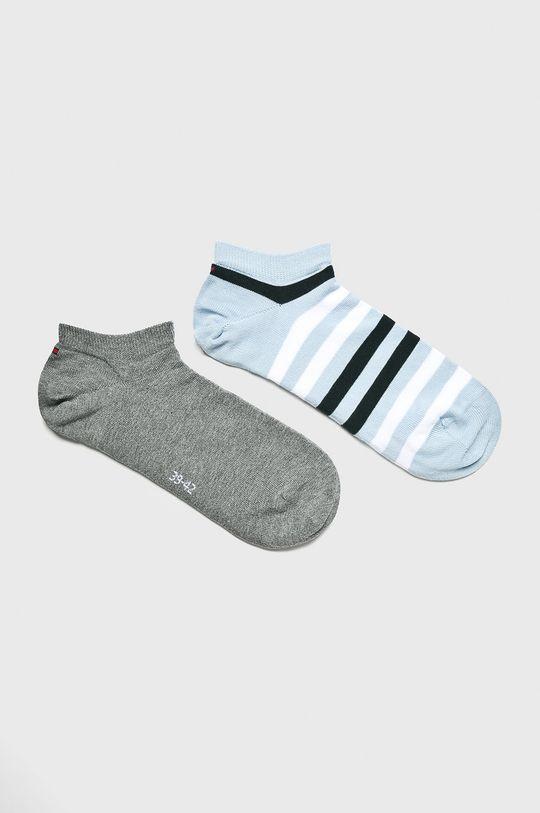 modrá Tommy Hilfiger - Kotníkové ponožky (2-pack) Pánský