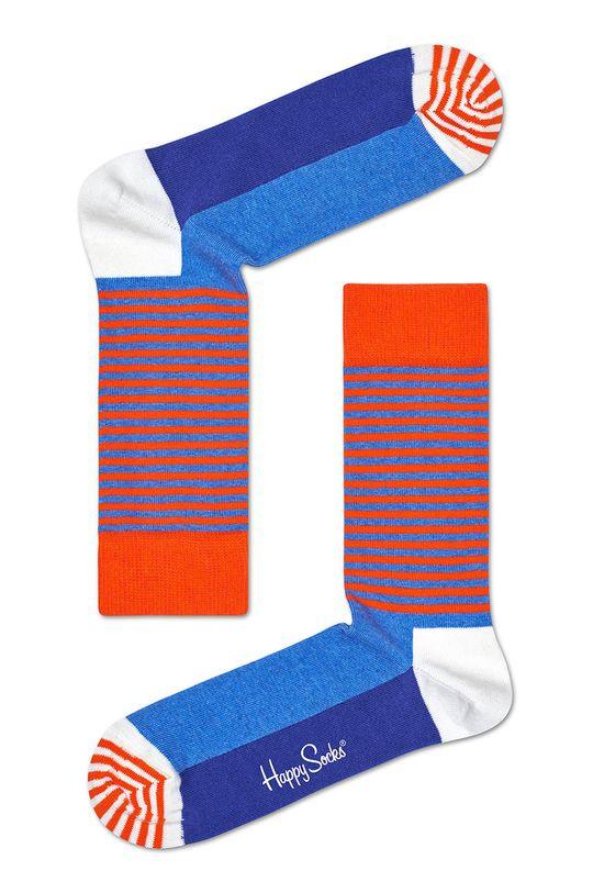 albastru Happy Socks - Sosete Half Stripe De bărbați