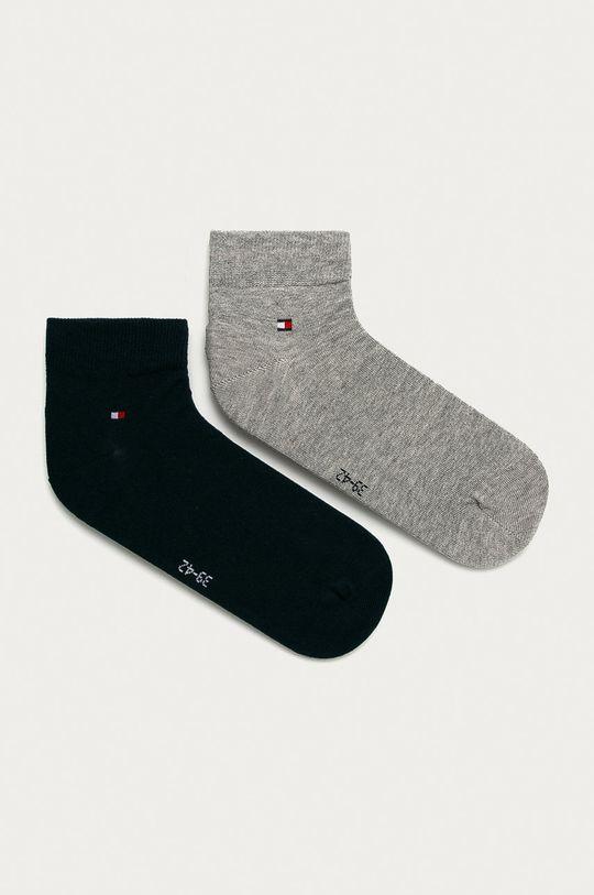 světle šedá Tommy Hilfiger - Pánské ponožky Quarter (2-pack) Pánský