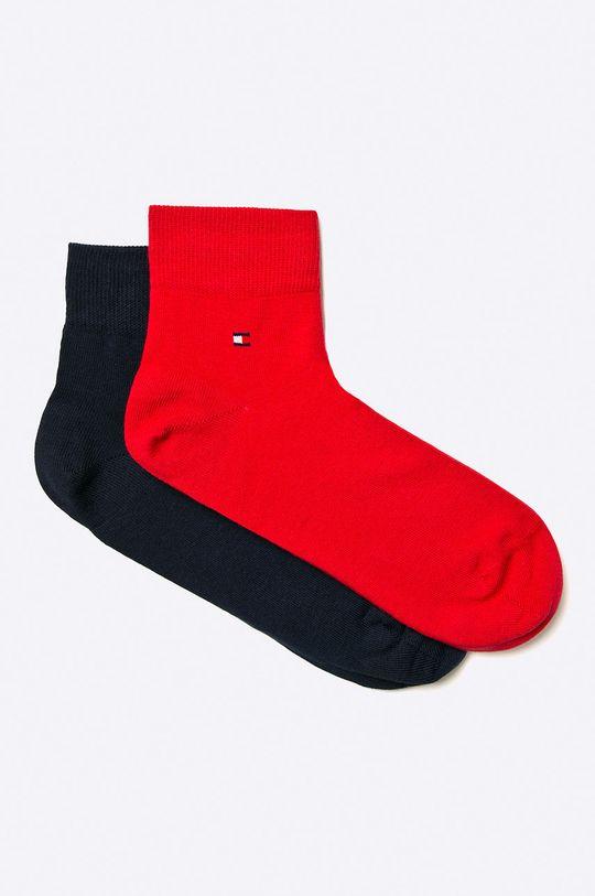 červená Tommy Hilfiger - Pánské ponožky Quarter (2-pack) Pánský