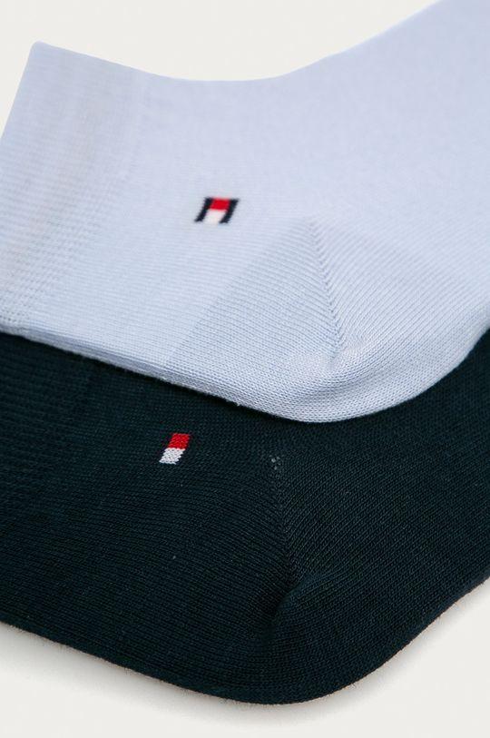 Tommy Hilfiger - Pánské ponožky Quarter (2-pack) světle modrá