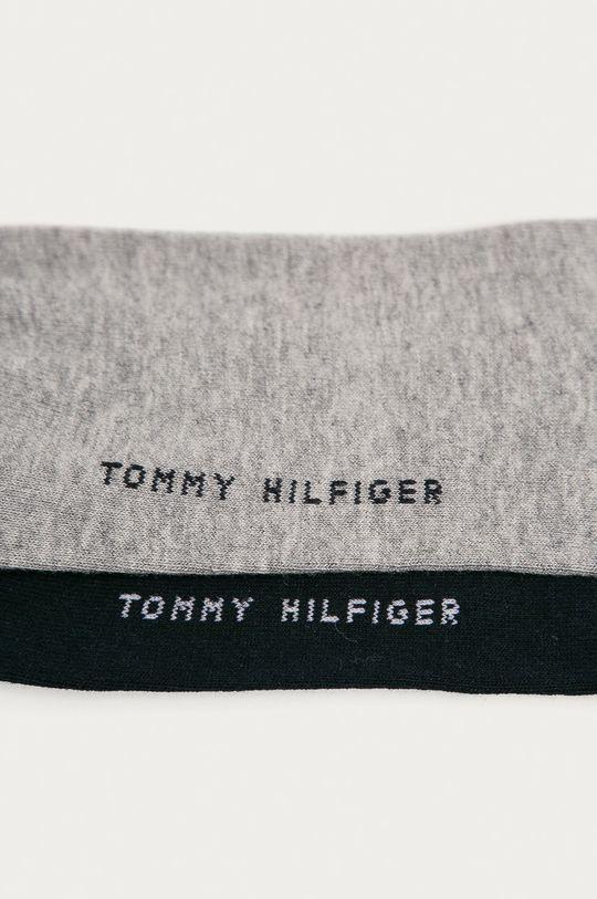 Tommy Hilfiger - Členkové ponožky (2-pak) svetlosivá