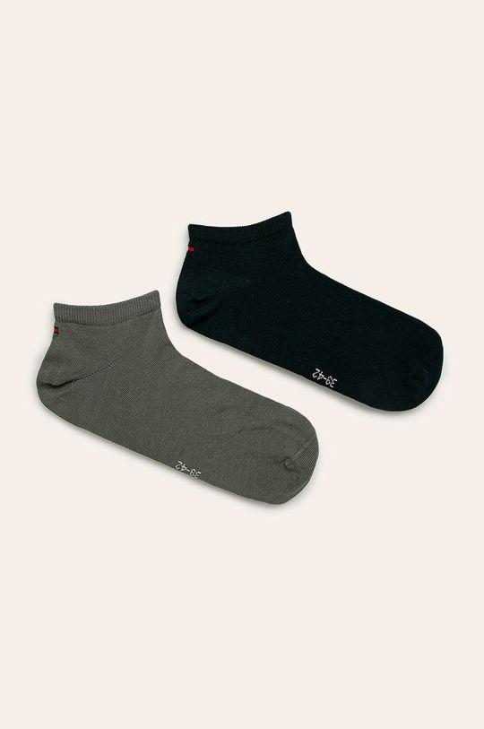olivová Tommy Hilfiger - Pánské ponožky Sneaker (2-pack) Pánský