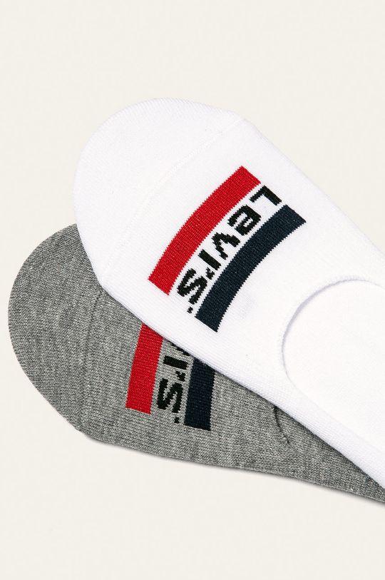 Levi's - Kotníkové ponožky (2-pack) bílá