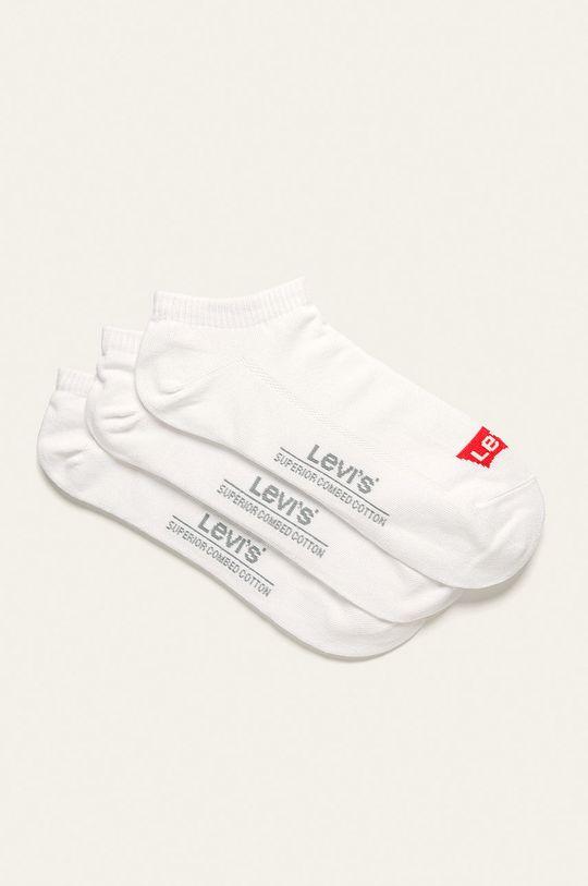 bílá Levi's - Kotníkové ponožky (3 pack) Pánský