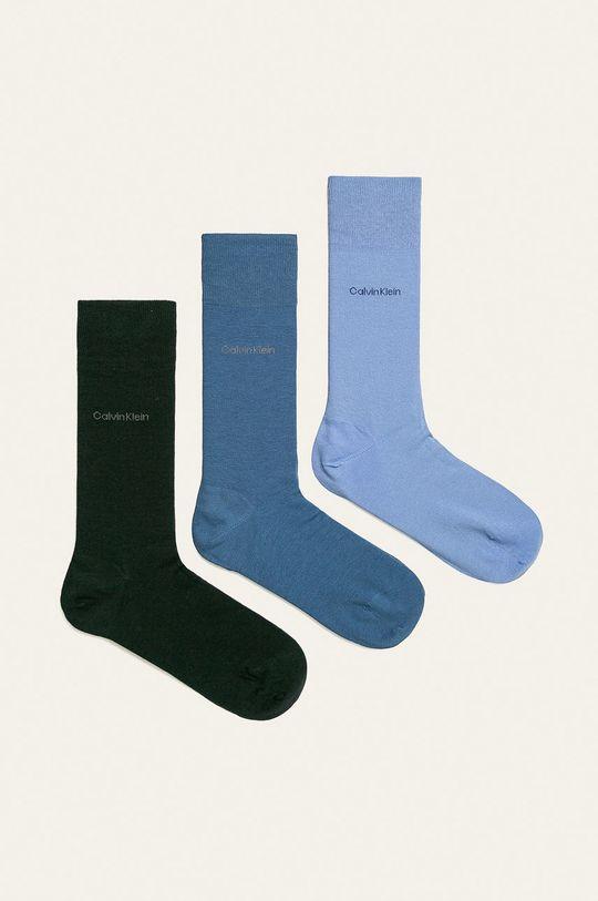 modrá Calvin Klein - Ponožky (3-pak) Pánsky