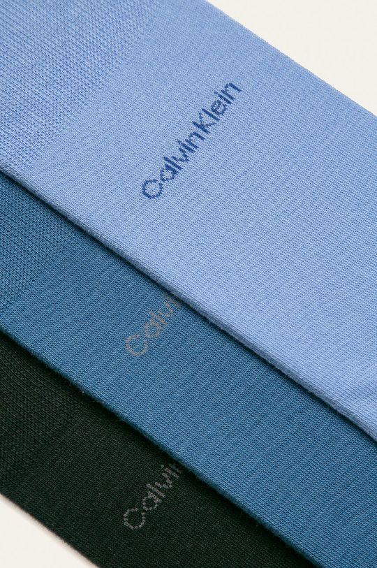 Calvin Klein - Ponožky (3-pak) modrá