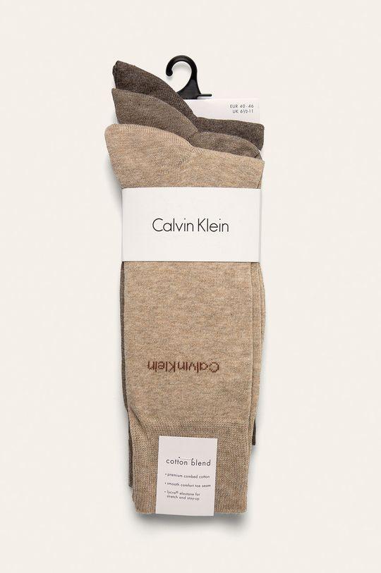 Calvin Klein - Skarpetki (3-pack) kawowy